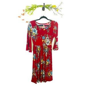 Gilli | Floral Dress Red Women's Size Small EUC